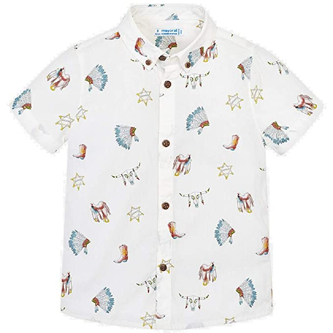 31387d10c Mayoral Camisa Manga Corta Estampada niño Modelo 3133  Amazon.es ...