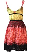 Free People Floral Multicolor Crochet Detail Dress Size 6
