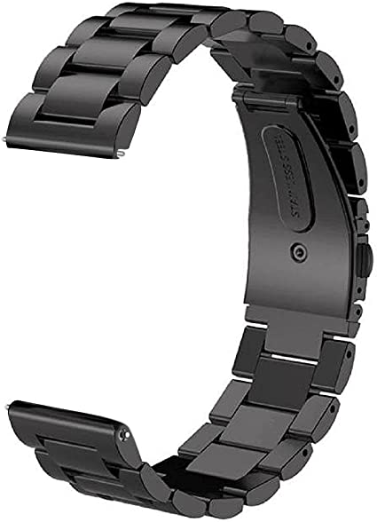 Gear S3 Frontier/Classic Band/Galaxy Watch 46mm Band,V-MORO 22mm Solid Stainless Steel Metal Business Bracelet Strap for Samsung Gear S3 Frontier/S3 ...