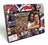 """MLB Washington Nationals Wooden Ticket Collage Picture Frame, Black, 4 x 6""""/Small"""