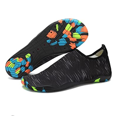 Water Shoes Ultra Lightweight Quick-Dry Aqua Sock Shoes Anti-Slip Barefoot Skin Flexible Flat For Outdoor Beach Athletic Sports