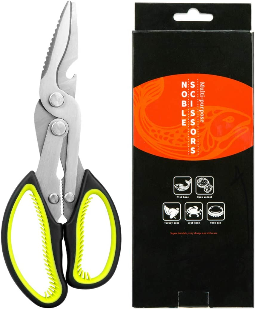 Kitchen Scissors Kitchen Shears Scissors Kitchen Heavy Duty Sharp Scissors Stainless Steel Shears Safe For Food Perfect Vegetables Herbs Cutting Meat Chicken Poultry Fish