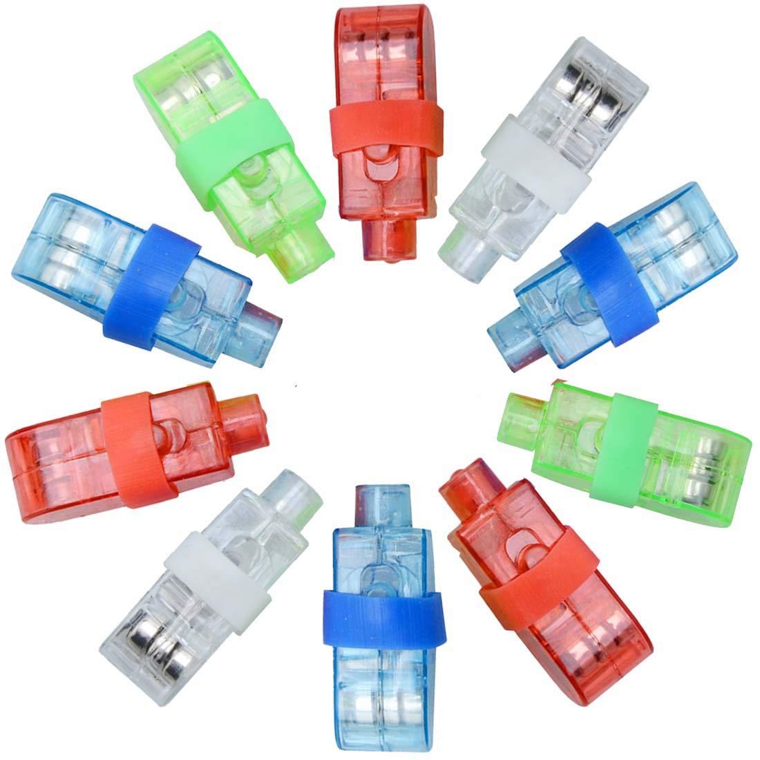 Syolee Lot de 20 lumiè res LED de doigt lsuper lumineuses Lampe de poche Idé al pour les jouets Accessoires de fê te