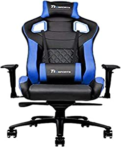 Thermaltake Tt eSPORTS GT Fit F100 Racing Bucket Seat Style Ergonomic Gaming Chair Black/Blue
