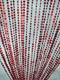 3 ft x 6 ft Iridescent Faux Crystal Beaded Curtain – Burgundy and Red For Sale