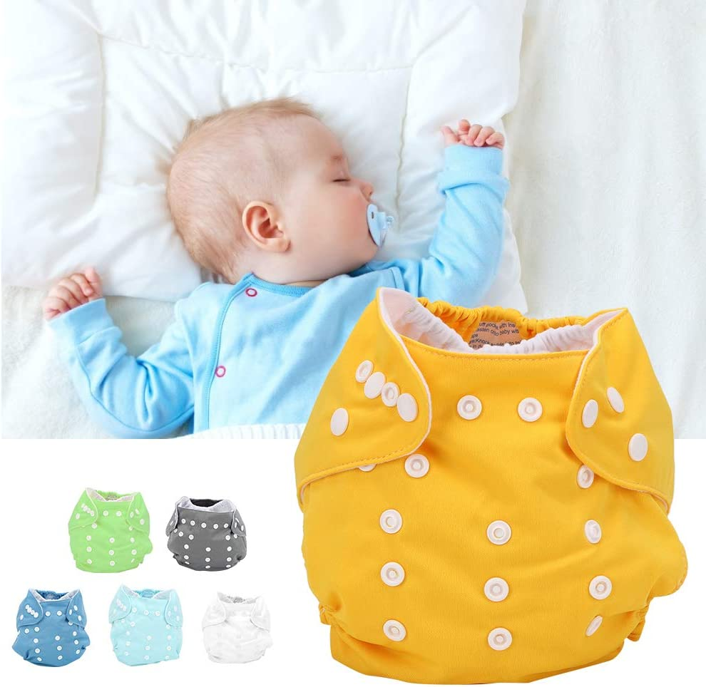 Boquite Stoffwindelh/ülle Baby Stoffwindelh/ülle verstellbare waschbare Wiederverwendbare Stoffwindeln Einstecktaschenwindel f/ür Kleinkinder einlegen