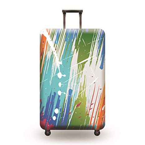 LDIW Suitcase Protective Cover Elastic Polyester Spandex Fabric Travel Suitcase Protector Fits 18-32 Inch Luggage,Cat,XL