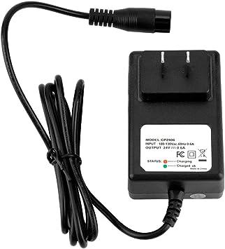 24V 0.6A 3PRONG ELECTRIC SCOTTER BATTERY CHARGER FOR RAZOR E100 E125 E500S
