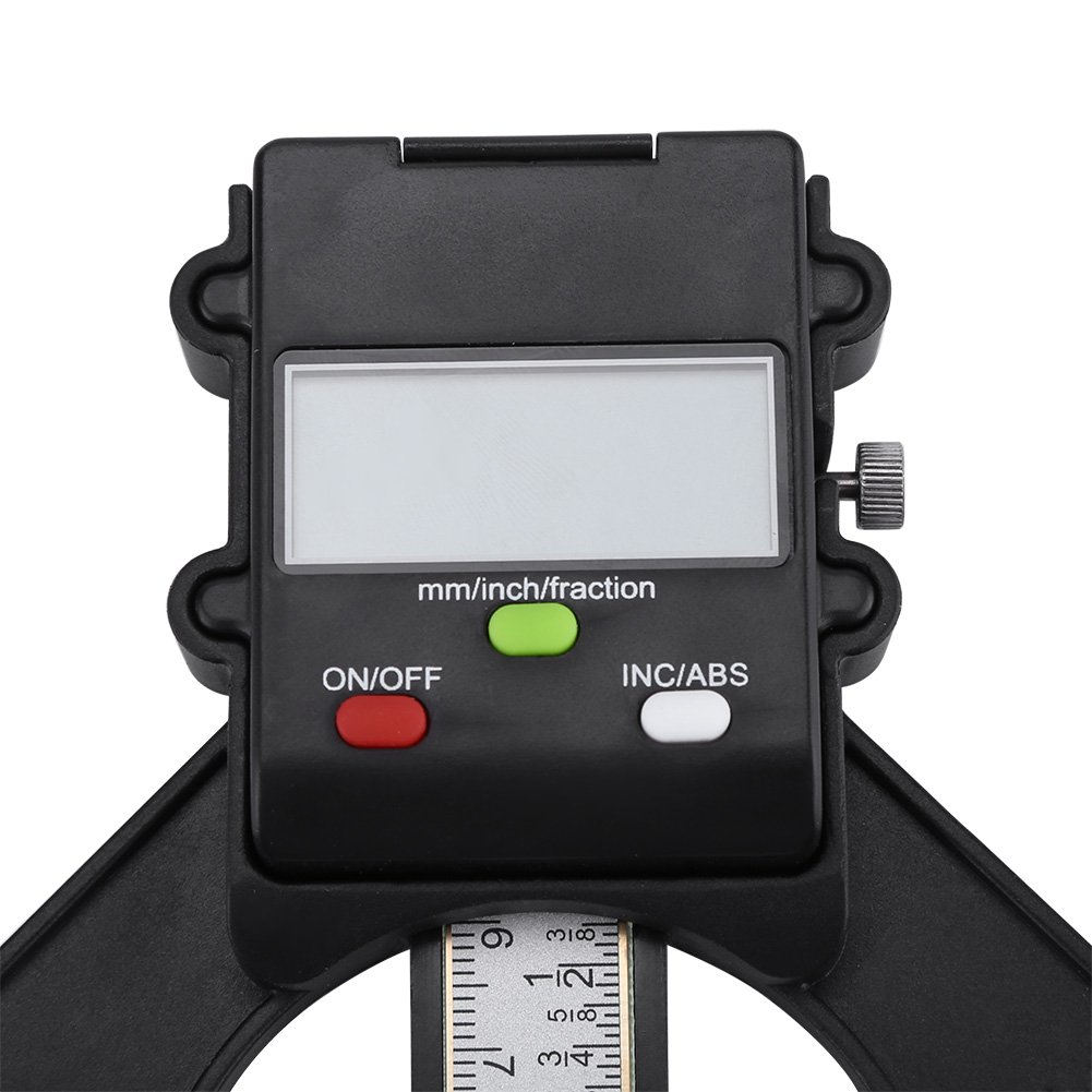 Digit Display INC//ABS Height Aperture Depth Gauge Support mm//inch with Self Standing Magnetic Feet for Router Table 0-80mm Digital Height Depth Gauge
