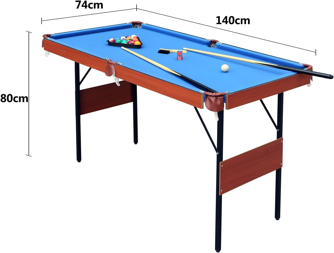 JCF Mini Mesa de Billar Snooker Mesa Plegable, Color Azul, con ...