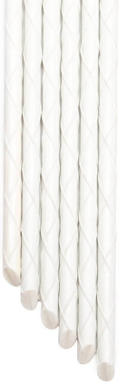 4-FT Eco-Friendly 5/16-Inch Dia Fiberglass Marker Stakes, Garden Stakes, Tomato Stakes, Tree Supports in White (Pack of 20)