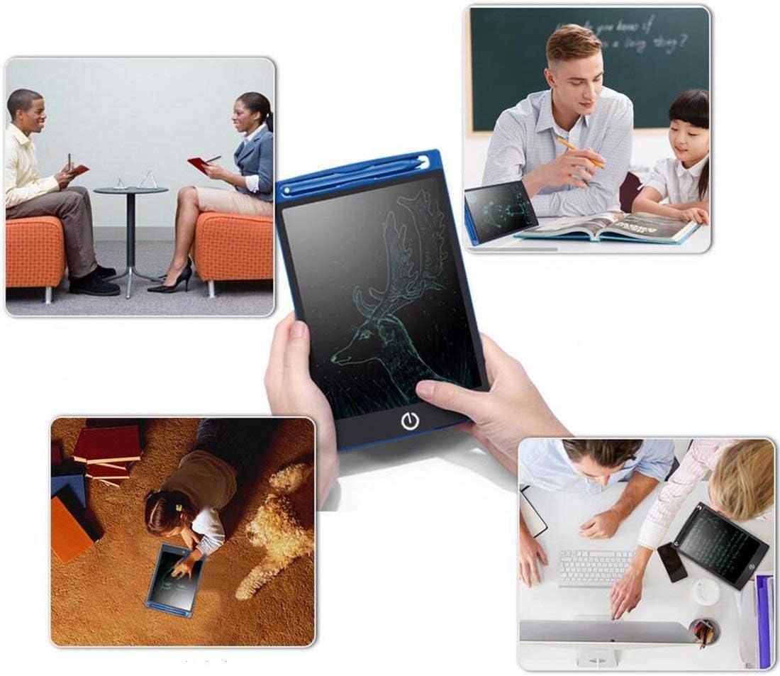 LIUXINYUE-MZ 8,5-Zoll-elektronisches LCD-Tablet Graffiti für Kinder Kleine Tafel Handbemalte Tafel Leinwand Licht Kann Tablet-Zeichenbrett wiederverwendbar, tragbar schreiben White