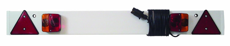 Barra segnaletica LED per roulotte 1,2 m con cavo da 6 metri Maypole 254PLED