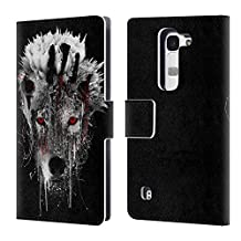 Official Riza Peker Wolf Animals 3 Leather Book Wallet Case Cover For LG Nexus 5