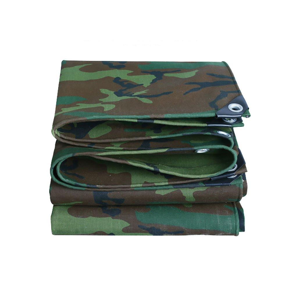 TDLX Camouflage Plane Waterproof Heavy Duty Verdicken Leinwand Plane Abdeckung Outdoor Sonnenschutz Zelt Splice Markise Sun Shade-Polyester, 500G   M² (größe   4.5  8m)