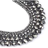 Song Xi Faceted Black Hematite Loose Stone Beads for Jewelry Making 15inches 6mm Beads