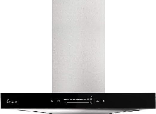 Campana extractora de pared (60 cm, acero inoxidable, cristal negro, extra silenciosa, WIFI, clase energética A++, 10 escalones, iluminación LED, teclas sensoriales TouchSelect) FLAT6005ED - KKT KOLBE: Amazon.es: Hogar