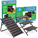 "AKC Convertible Pet Steps & Ramp with Anti-Slip Strips – Lightweight Frame to Help Pets Climb, 25.5""L x 17.25""W x 15""H"