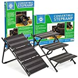 "AKC Convertible Pet Steps & Ramp with Anti-Slip Strips – Lightweight Frame to Help Pets Climb, 25.5""L x 17.25""W x 15""H"