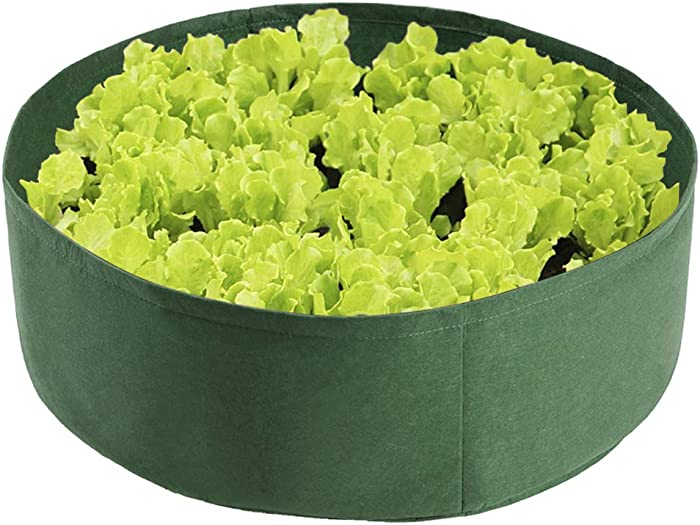 æ— 2 Pack Raised Garden Planting Bed, 50 Gallon Felt Fabric Plant Grow Bag, Heavy Duty Planting Container for Plants Herbs Flowers Vegetables,Green