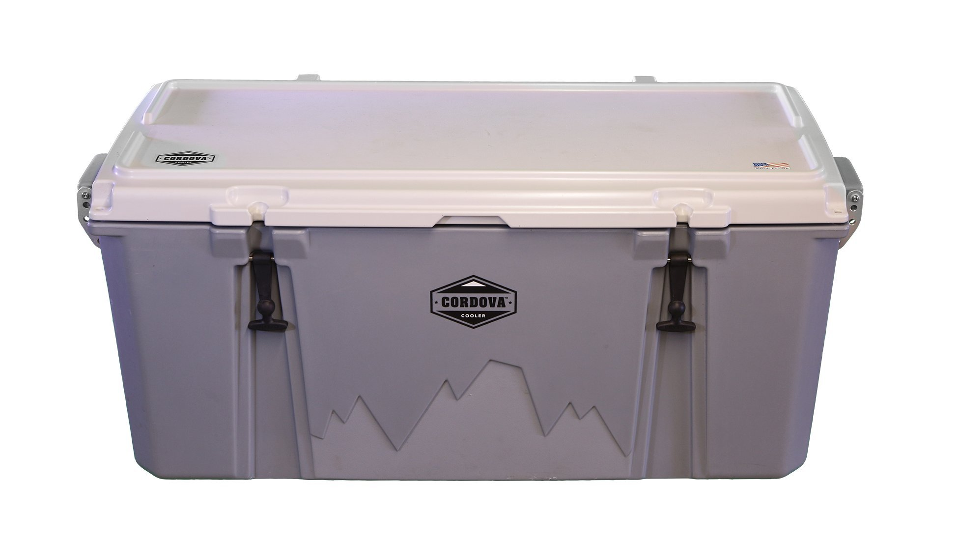 Cordova Coolers Rotomolded Gray/White Cooler with Extreme Ice Retention, up to Ten Days by Cordova Coolers