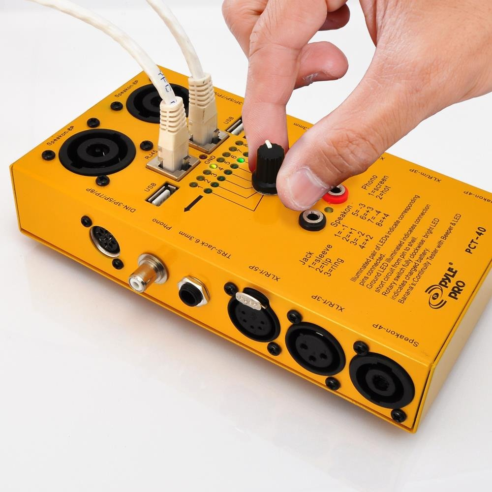 Pyle Pro Pct40 12 In 1 Cable Tester Business Xlr Connector Wiring Diagram Also 5 Pin Din Plug On 3 Mic Industry Science