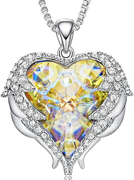 Familiarizarse Soberano Florecer  DD. store Collar con corazón de mar de Mujer Swarovski Elements Crystal  Heart Clavicle Chain,Yellow: Amazon.es: Deportes y aire libre