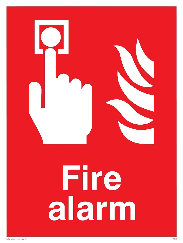 Viking signos fv353-a3p-1 m alarma contra incendios señal, 1 ...