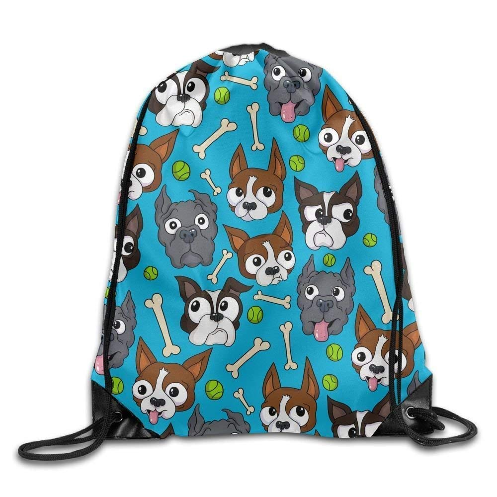 Doggies Bone Ball Pattern Print Drawstring Backpack Rucksack Shoulder Bags Gym Bag Sport Bag Bag shrots 6087688530573