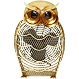 DecoBREEZE Snowy Owl Figurine Fan Two-Speed Electric Circulating Fan