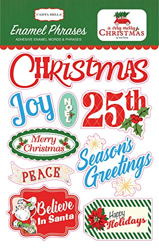 Carta Bella Paper Company a Very Merry Christmas Enamel Words & (Dimensional Word Stickers)