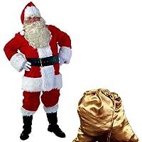 Tauser Mujeres Hombres Santa Claus Tops Pantalones Cap