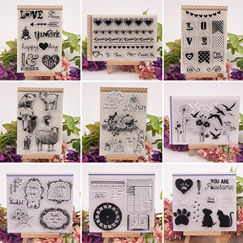 Haayward – Clear Stamps for Cards Making Sheets Scrapbook Rubber Silicone for Dog Cat DIY Scrapbooking Seal Photo Album Wish Decorative Kits by Haayward (Image #3)