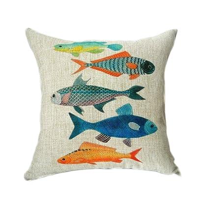45/cm x 45/cm Elviros Decorative cotton linen mix cushion cover