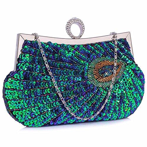 L And S Handbags - Cartera de mano para mujer Verde