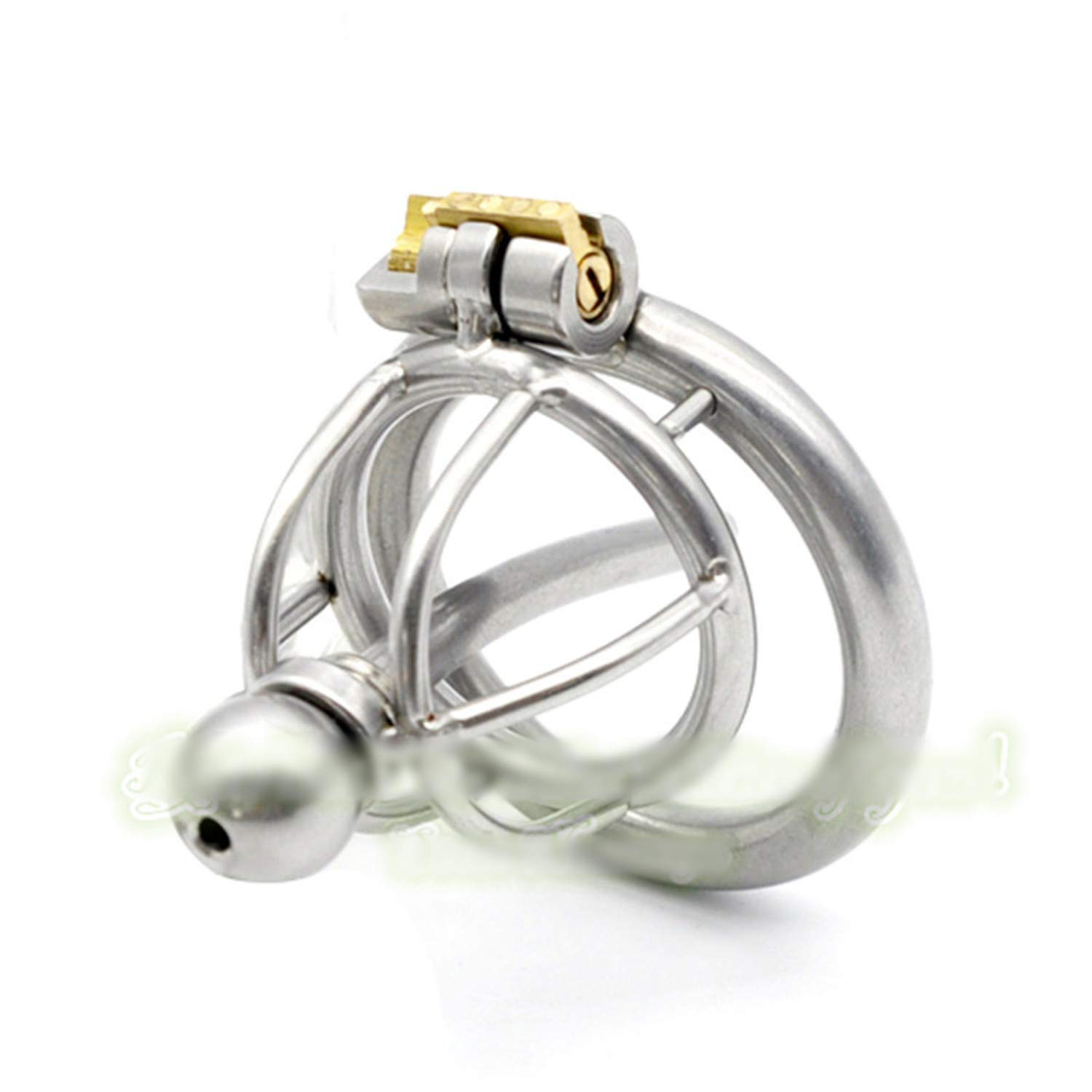 SCGOLD 33Mm New Lock Stainless Steel Include Catheter Male Chastity Belt Adult Cock Cage Sex Toy Chastity Device 50mm
