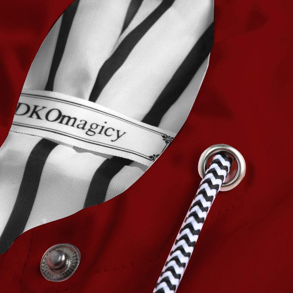 Skang Manteaux Imperméables, Femmes Grande Taille Longue ImperméAble à Capuche Solide Chaud Vestes Coupe-Vent Outwear avec Poche S-5XL Rouge