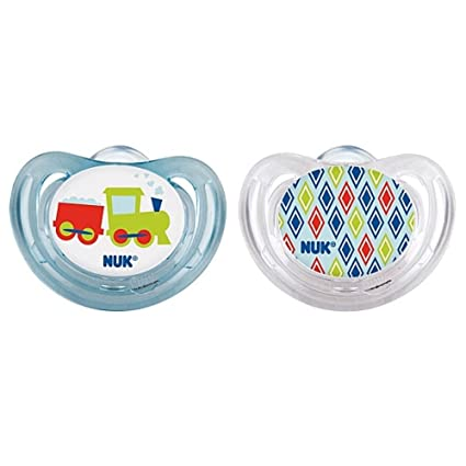 NUK Airflow Orthodontic Pacifier 6-18 Months, 2 Pack AIR FLOW Choose your pick (hearts)
