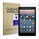 All-New Fire HD 10 Screen Protector (2017 Verison)- FD AIMOER Tempered Glass Screen Protector with Ultra Slim HD Clear 9H Anti-Scratch for Fire HD 10 2017