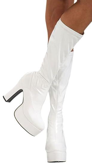 erdbeerloft Damen 60er, 70er Jahre Plateau Stiefel, Kostüm