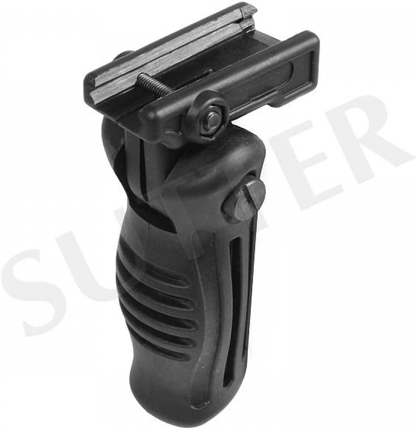 Tactical Compact Size 4 Position Folding Grip Foregrip Fits Weaver Rails