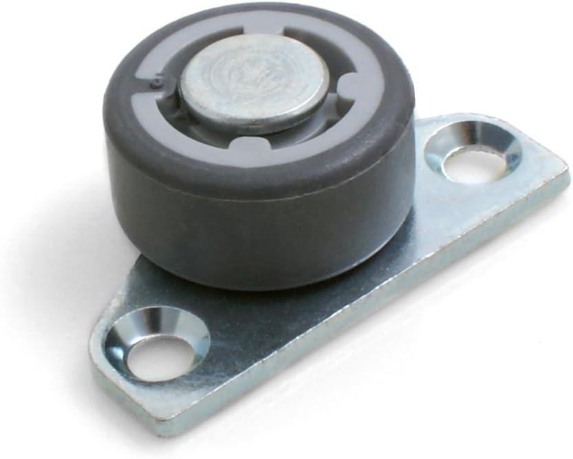 16 x 20 mm Juego de 4 ruedas para muebles con superficie de rodadura dura Design61