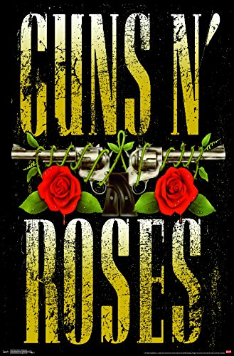 Trends International Guns N' Roses - Stacked Logo Premium Wall Poster, 22.375