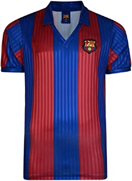 FCB FC Barcelona Meister Española 1992 Retro Camiseta, Unisex, Rojo y Azul, Medium: Amazon.es: Deportes y aire libre