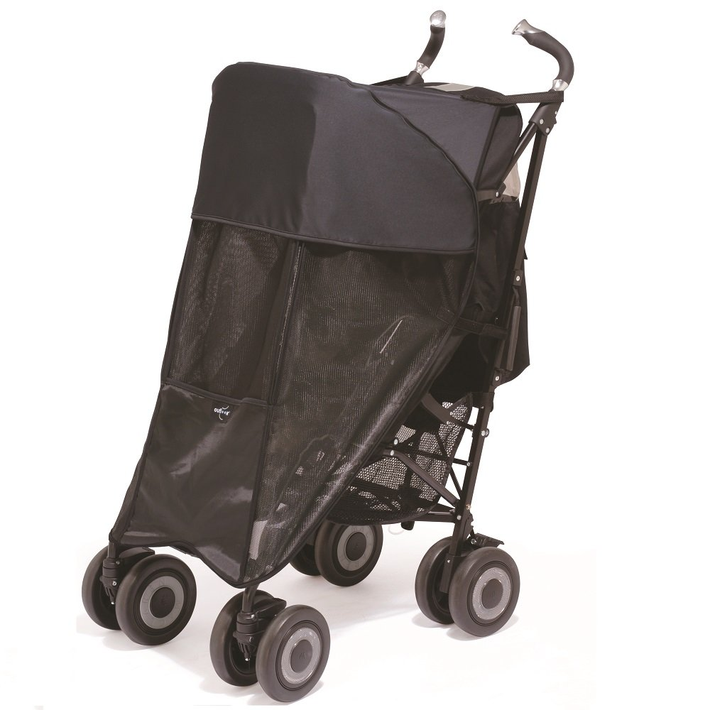 Shade-a-Babe Buggy Sunshade Black/Black Trim Outlook SABS-BK