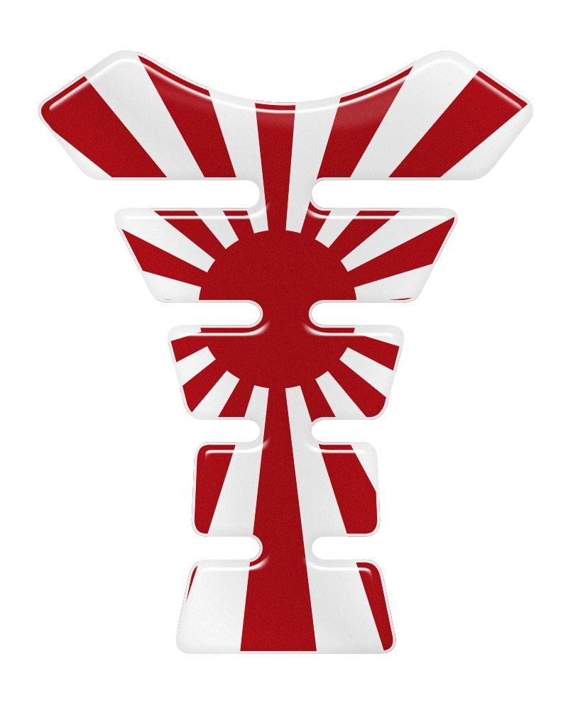 Japan Rising Sun 3D Resin Domed Gel Tank Pad K1