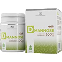 D Mannose Powder [100g], 100% Pure | Supports Bladder & Kidney Health, Urinary Infection (UTI), Cystitis Relief and Prevention | Enhanced Cranberry Detox Treatment - Vegan, Non-GMO, Gluten Free