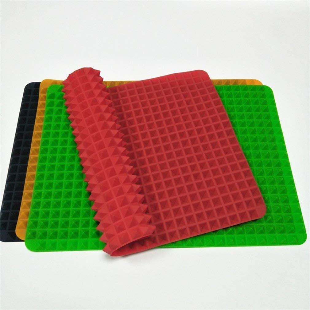 Tapis de cuisson portable en silicone pour barbecue tapis de cuisson en forme de pyramide anti-adh/ésif r/éduisant la graisse four /à micro-ondes