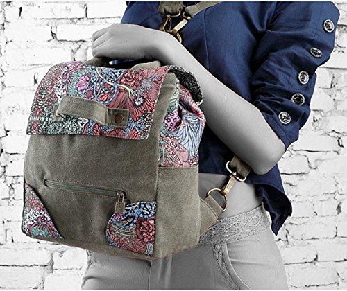 Keshi Leinwand Cool Damen accessories hohe Qualität Einfache Tasche Schultertasche Freizeitrucksack Tasche Rucksäcke Mehrfarbig 2 7Jd81lr4P