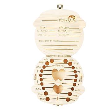 M/ädchen Patgoal Baby Geburtsurkunde Souvenir Box f/ür Z/ähne Personalisierbarem Die milchz/ähne Keepsake Box